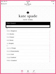 Kate Spade Client Search 1