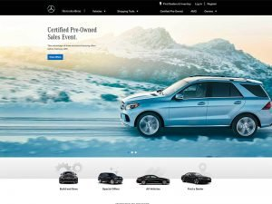 Brands Using WordPress: Mercedes-Benz