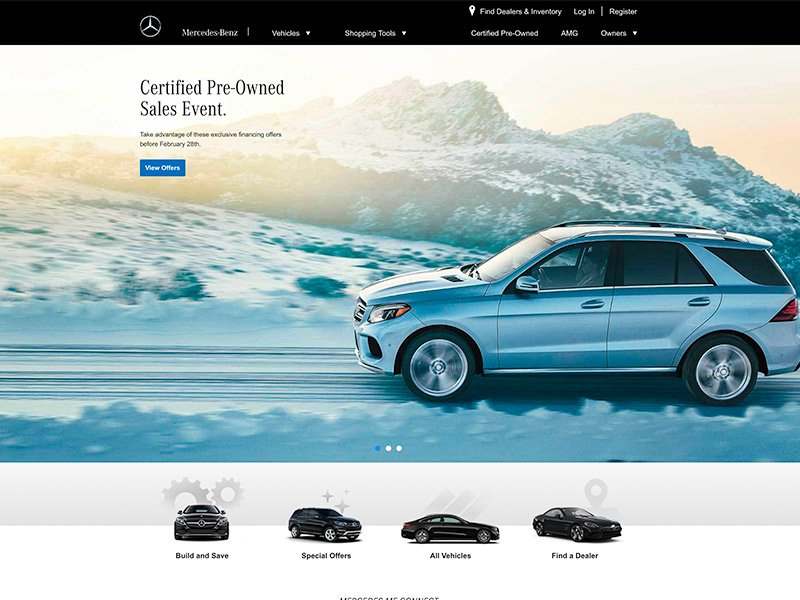 Brands That Use WordPress: Mercedes-Benz