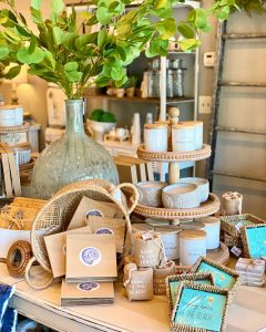 Rustic Market Candles Display