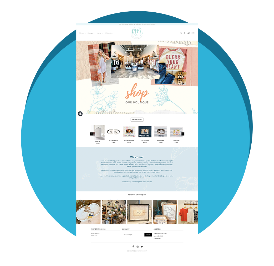 Rustic Market Portfolio Page